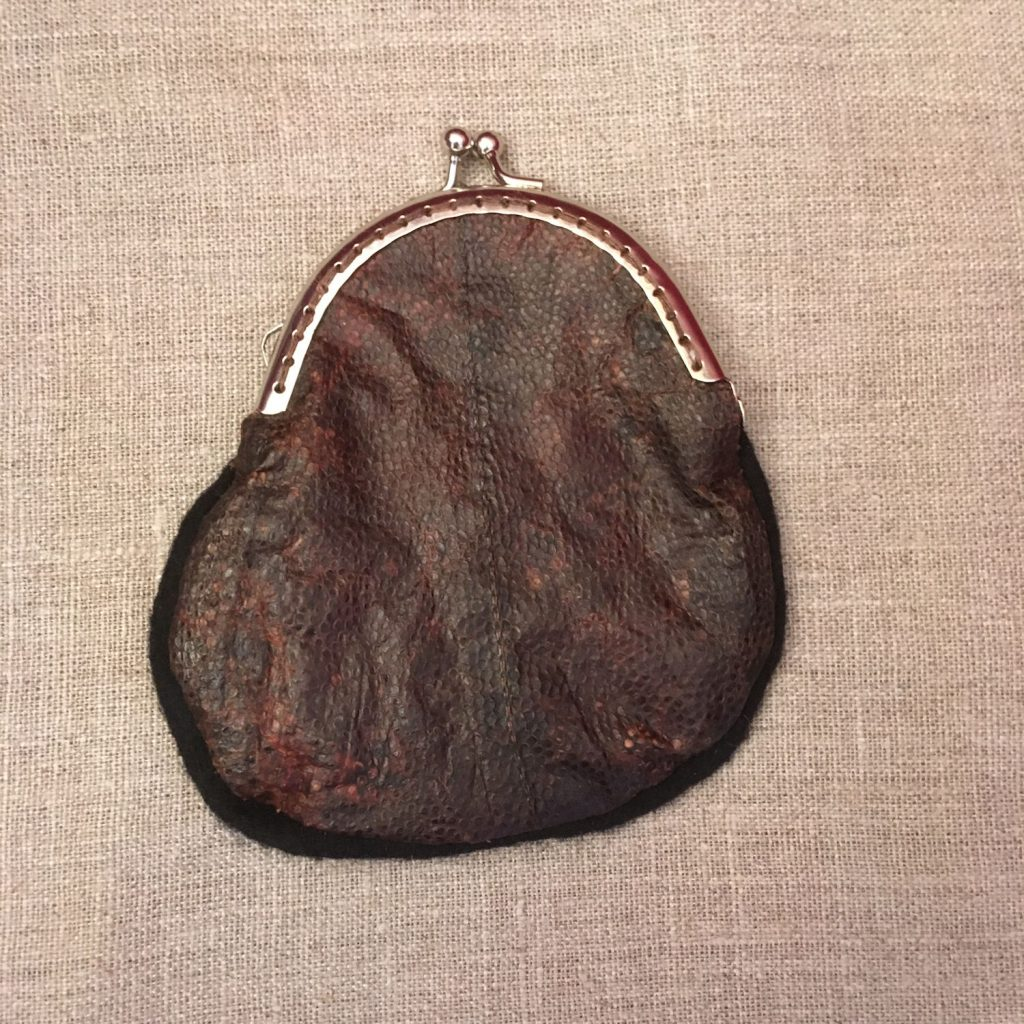 Plaice Fish Leather Coin Purse - Reverse Side