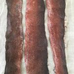 Birch Bark Tanned Salmon Skins