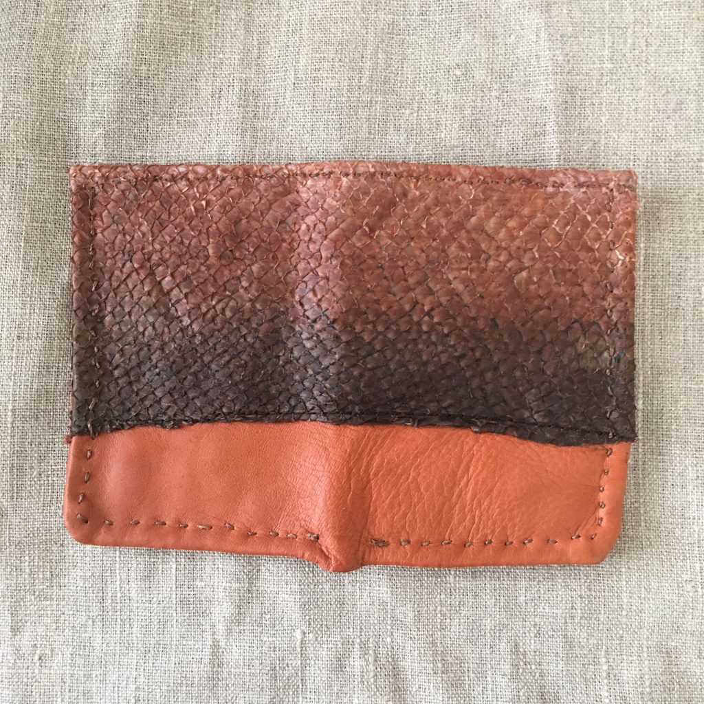 Reindeer / Salmon Leather Bill Fold Wallet