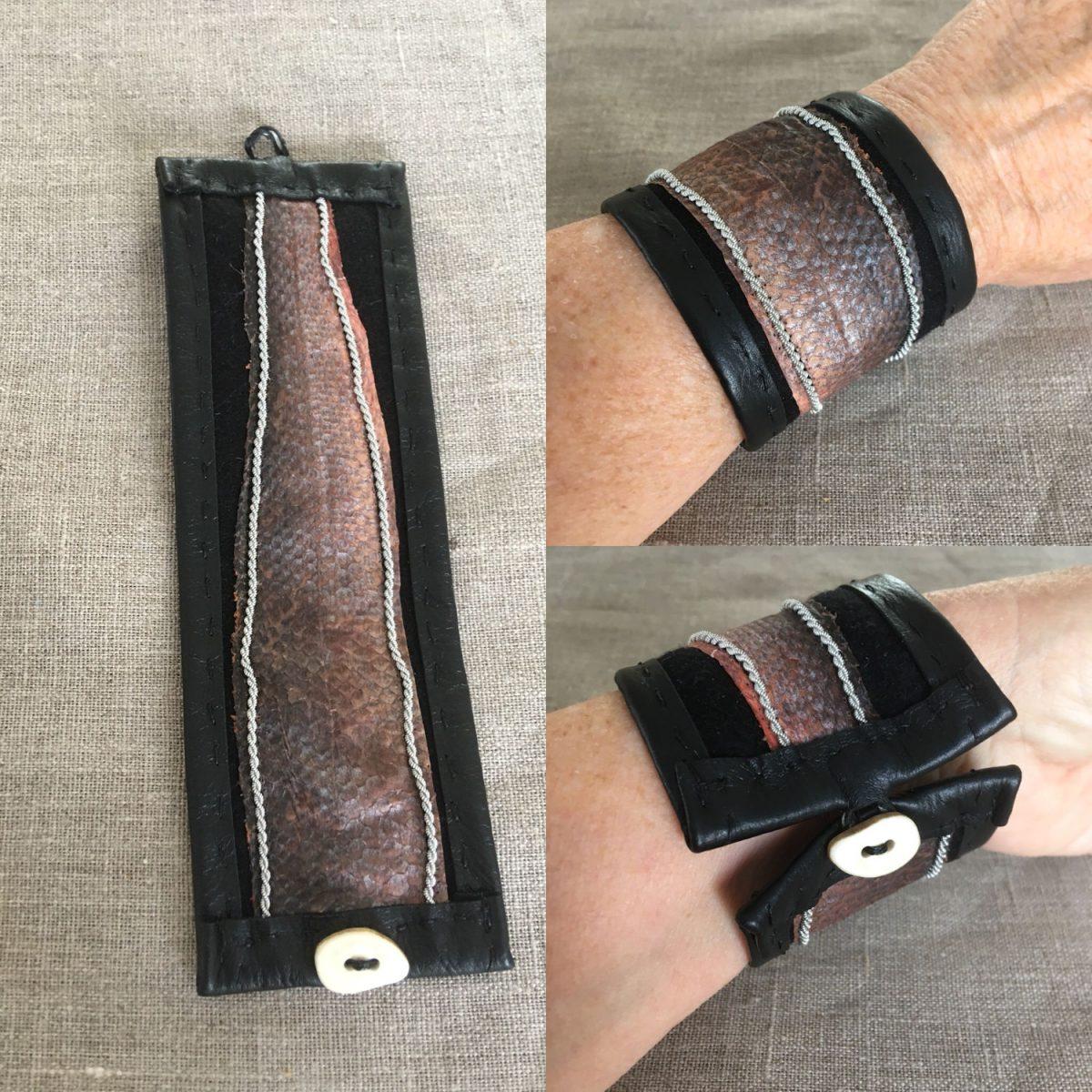 Sea Bass Fish Leather Cuff