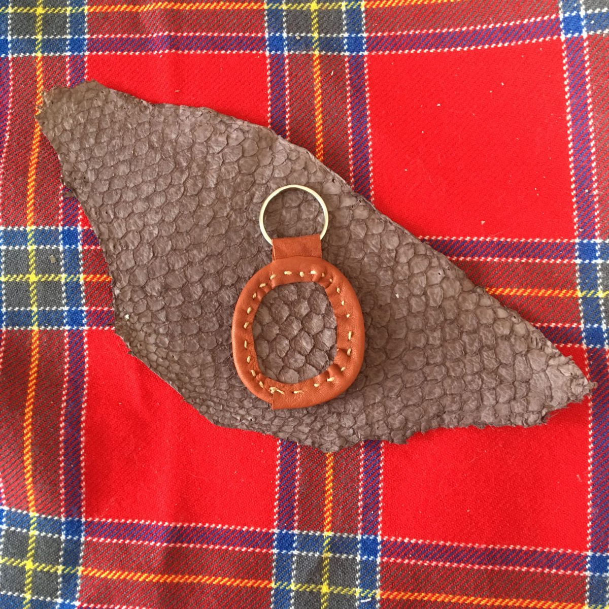 Fish Leather Keychains